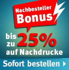 Fahnendruck Nachbesteller-Rabatt bis zu 25%.